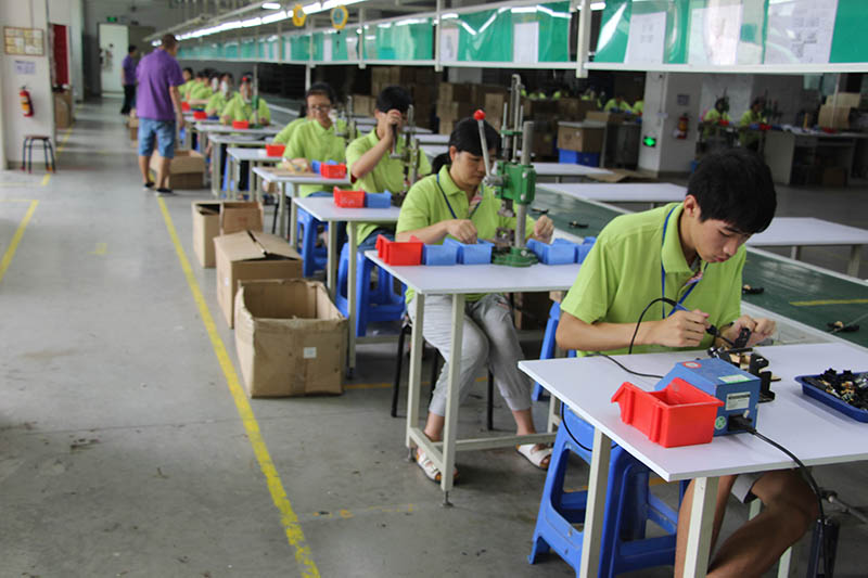 Joysway Hobby's Production Assembly Department for Assembling Slot Car Sets